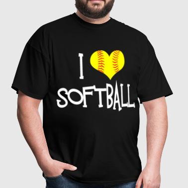 I Love Softball - Men's T-Shirt