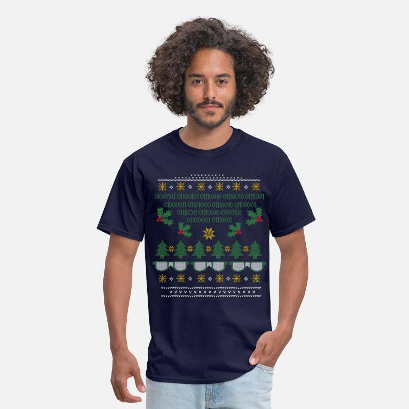 Geek Christmas.Geek Ugly Christmas Sweater Men S T Shirt Navy