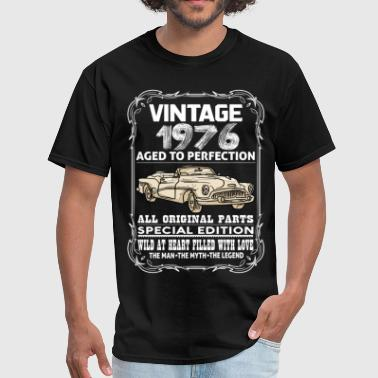 1976 Aged To VINTAGE 1976-AGED TO PERFECTION - Men's T-Shirt