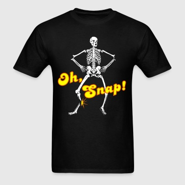 Oh Snap Halloween Skeleton - Men's T-Shirt