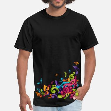 Music Note Music - Musician - Band - Music Notes - Musical - Men's T-Shirt