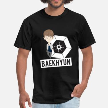 Korean Chibi EXO - Chibi Baekhyun (For Dark Shirts) - Men's T-Shirt