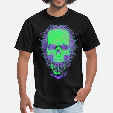 Dark Web Webbed Skull - Men's T-Shirt