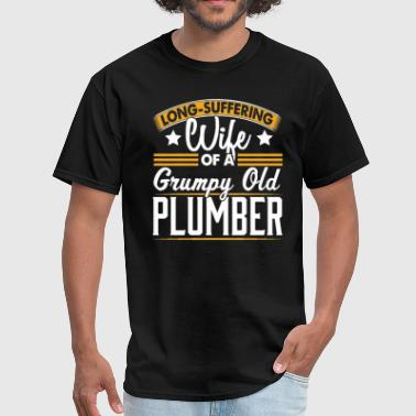 Plumbers Wife Plumber Long Suffering Wife T-Shirt - Men's T-Shirt