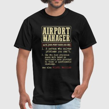 Airport Airport Manager Controller Dictionary Term - Men's T-Shirt