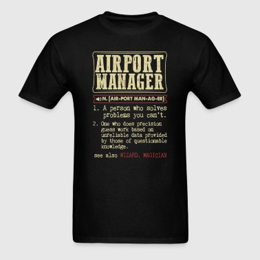 Airport Manager Controller Dictionary Term - Men's T-Shirt