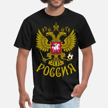 Gerb Gerb Rossii Coat of Arms of Russia Eagle футбол - Men's T-Shirt