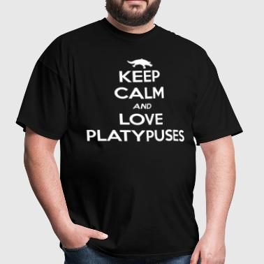 Platypus Keep Calm and Love - Men's T-Shirt