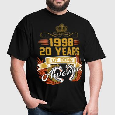 1998 20 Years Of Being Awesome - Men's T-Shirt