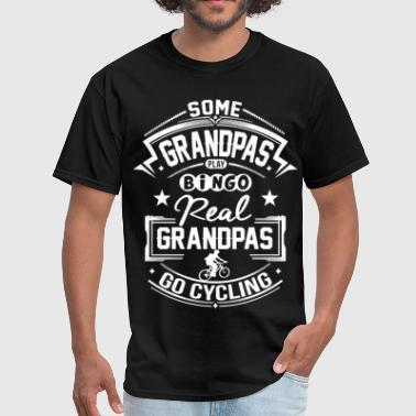 Cycling Grandpa Real Grandpas Go Cycling - Men's T-Shirt