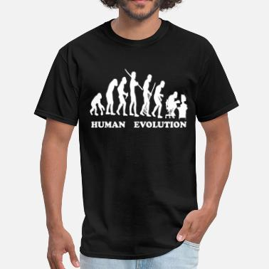 Human Evolution HUMAN - Men's T-Shirt