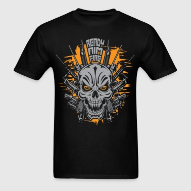 Badass Skull Gun Rights - Men's T-Shirt