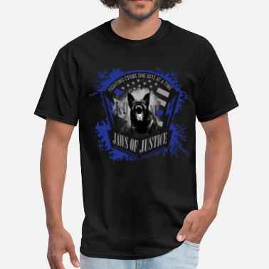 Police Dog K-9 Unit  Jaws of Justice - Men's T-Shirt