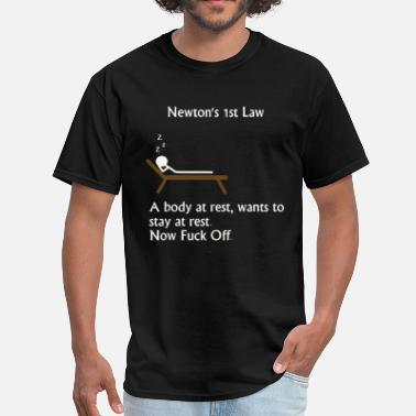 Isaac Funny physics joke about Newton - Men's T-Shirt