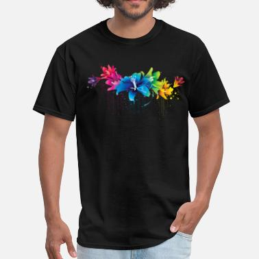 Flower Design colorful flower - Men's T-Shirt