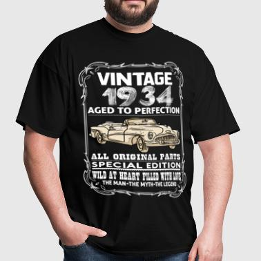 VINTAGE 1934-AGED TO PERFECTION - Men's T-Shirt