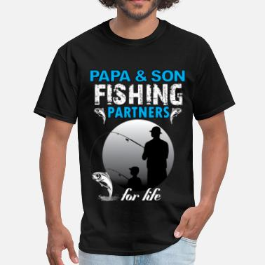 Papa Son Papa And Son Fishing Partners For Life - Men's T-Shirt