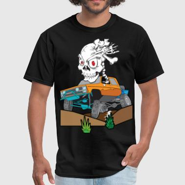 Off-Road Rock Crawling Skully Truck - Men's T-Shirt