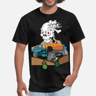 Rock Crawling Truck Off-Road Rock Crawling Skully Truck - Men's T-Shirt