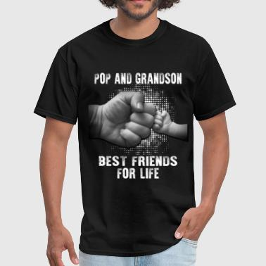 Pop And Grandson Best Friends For Life - Men's T-Shirt