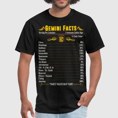 Gemini Facts Zodiac  - Men's T-Shirt
