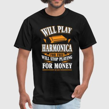 Play Harmonica Will Play Harmonica For Free - Men's T-Shirt