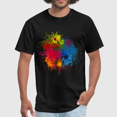 Abstract Paint Splatter - Men's T-Shirt