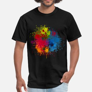 Paint Abstract Paint Splatter - Men's T-Shirt