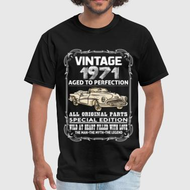 1971 Aged To Perfection VINTAGE 1971-AGED TO PERFECTION - Men's T-Shirt