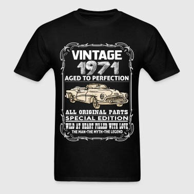 VINTAGE 1971-AGED TO PERFECTION - Men's T-Shirt