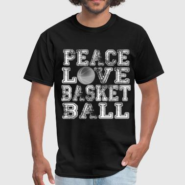 Peace, Love, Basketball - Men's T-Shirt