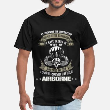 Army Rangers Airborne - I've earned it with my blood and tears - Men's T-Shirt