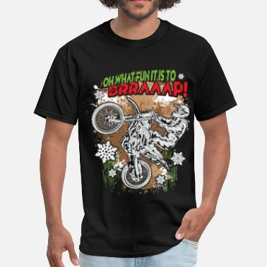 Christmas Motocross Ugly Motocross Christmas - Men's T-Shirt