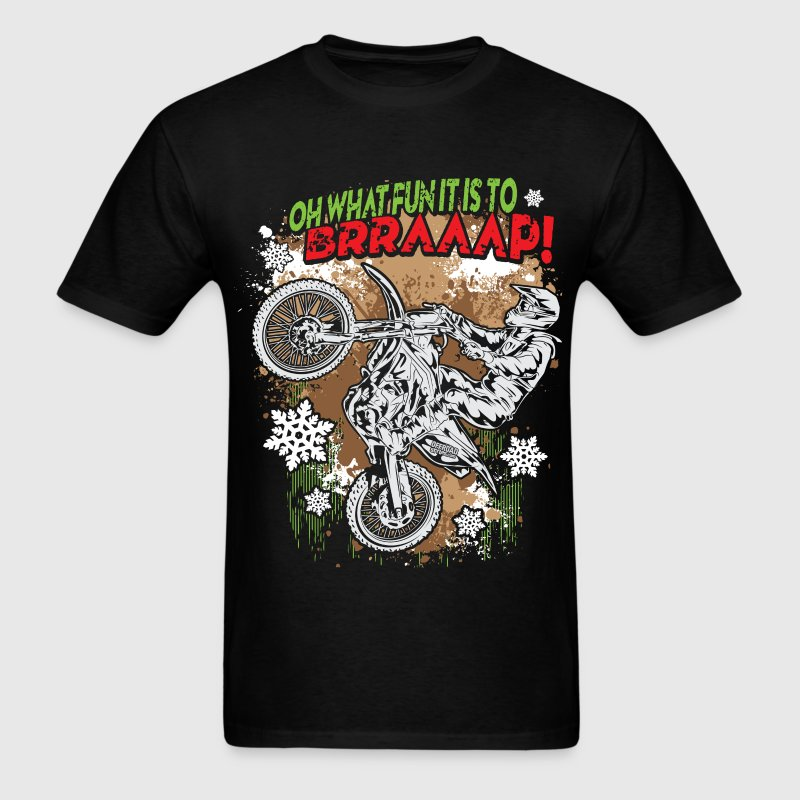 Ugly Motocross Christmas - Men's T-Shirt