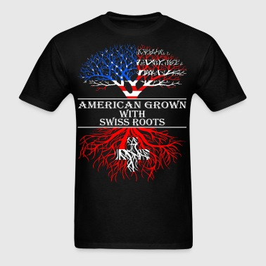American Grown With Swiss Roots - Men's T-Shirt