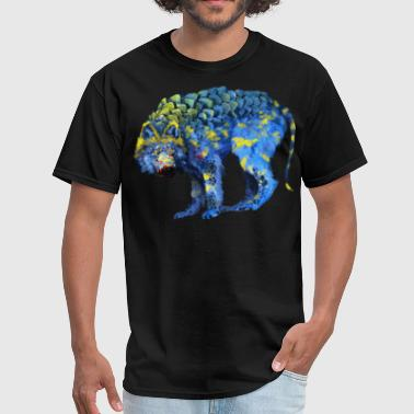 wolf colorful - Men's T-Shirt