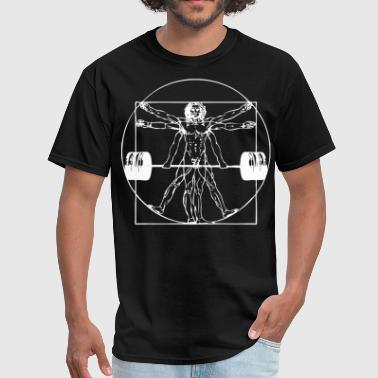 Lifting Vitruvian Barbell Man - Men's T-Shirt