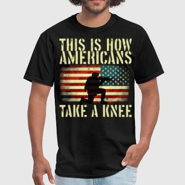 Stand for the flag. Kneel for the cross - Men's T-Shirt