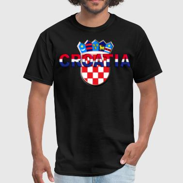 Croatia 3D relief Sahovnica - Men's T-Shirt