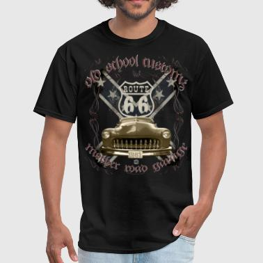oldschool customs Hot Rod route 66 mercury - Men's T-Shirt
