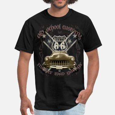 Route oldschool customs Hot Rod route 66 mercury - Men's T-Shirt