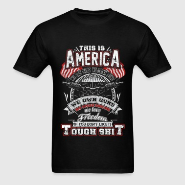 America – We eat meat,We drink beer.We own gun - Men's T-Shirt
