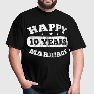 10 Years Happy Marriage - Men's T-Shirt