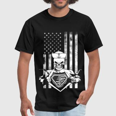 All I Want For Christmas Is My Sailor Home Superman - USA Sailor - Men's T-Shirt