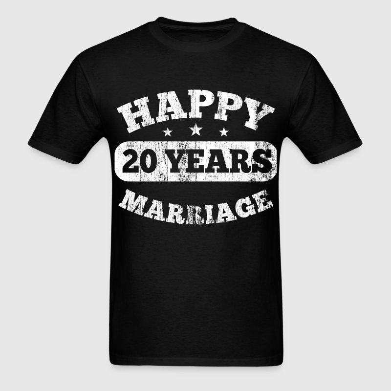 20 Years Happy Marriage - Men's T-Shirt