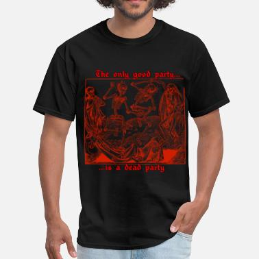 Red Dead Dead Party (Red)  - Men's T-Shirt