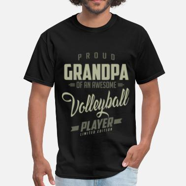 Proud Grandpa Proud Grandpa Volleyball Player. - Men's T-Shirt
