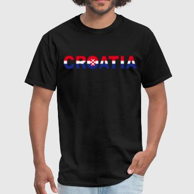 croatia hrvatksa 3D logo - Men's T-Shirt