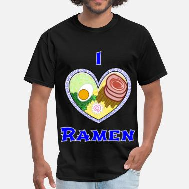 Noodle Bowl Egg Lover I ♥ Ramen - Men's T-Shirt