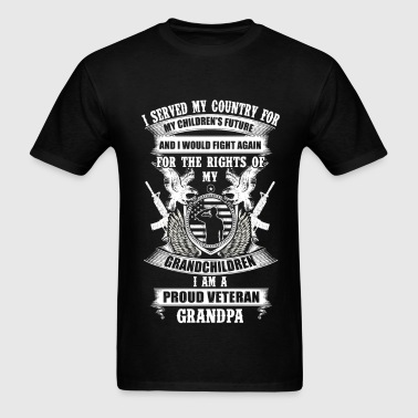 Veteran Grandpa - Served my country for children - Men's T-Shirt